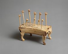 Game of Hounds and Jackals, ca. 1814–1805 B.C. Middle Kingdom, Dynasty 12, reign of Amenemhat IV. Egypt, Upper Egypt; Thebes, el-Asasif, Tomb of Reniseneb.Egyptians likened the intricate voyage through the underworld to a game. This made gaming boards and gaming pieces appropriate objects to deposit in tombs.