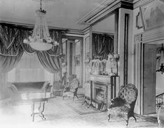 Figure 40 Interior of the Aiken-Rhett house with original furnishings, photographed in The whereabouts of the dolphin card table in the lower lefthand corner is unknown. Abandoned Plantations, Old Cabins, Old Mansions, Historic Properties, Historic Houses, Plantation Homes, Victorian Houses, Empire Style, Charleston Sc