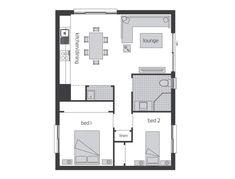 Granny Flat Designs and Studio Suites Layout Design, Mcdonald Jones Homes, Garage Apartment Plans, Apartment Checklist, Granny Flat, Small House Design, Cabin Plans, Clever Design, Small House Plans