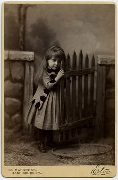 So immensely sweet that at first glance one would be entirely forgiven for mistaking this darling Victorian child as a doll. :)