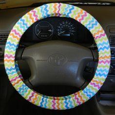 Neon Chevron Steering Wheel Cover by EmbellishMePattyV on Etsy, $19.00