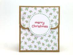 Christmas Gift Card Holder Set - Christmas Money Holder - Holiday Gift Card Holder - Money Enclosure - Christmas Money Card - Gift Card