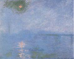 Charing Cross Bridge, Overcast Weather, Claude Monet, 1900.