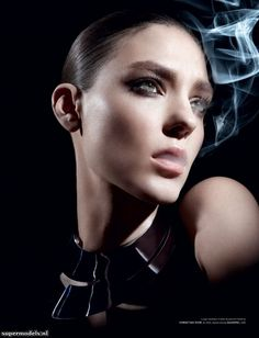 Kati Nescher in 'Smoking' - Photographed by David Hughes (Love #9 Spring/Summer 2013)    Complete shoot after the click...