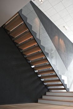 Glass Railing, Modern Staircase, Steel Frame, Modern Design, Stairs, Lights, Fasteners, Shape, Website