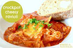 crockpot cheesy ravioli