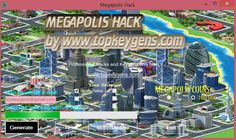 Megapolis Hack is ready to use and We would like to publish it today. Megapolis Coins Hack was tested many times and Cheats Megapolis works in 100%. It's next small step to make You easier way to play in games and get pleasure because of it.