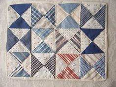 broken dishes doll quilt-really need to use my massive collection of homespuns
