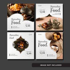 Ramadan Food Social Media Post Template with Elegant Design. Anyone can use this easily. Social Media Poster, Social Media Banner, Social Media Template, Social Media Graphics, Food Graphic Design, Food Poster Design, Web Banner Design, Web Design, Ramadan Food