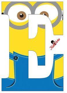 Typography - Minion Alphabet - Letter E Minion Birthday Banner, Minion Theme, Minion Party, Boy Birthday, Birthday Themes For Boys, Printable Letters, Minion Printable, Alphabet And Numbers, Baby Boy Shower