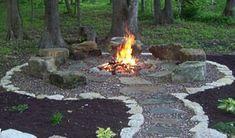 Cute setup for a gravel firepit