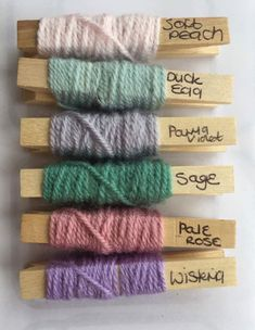 Pale, pastel, vintage colour palette inspiration. Pink, green, pirple, grey. Design, knitting, crochet, yarn inspiration.