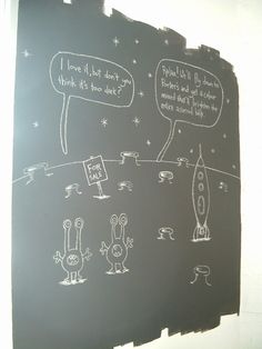 Chalkboard paint by Porter's Paints  I want a wall that I can doodle on.