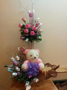 Teddy bear chocolate bouquet for birthday