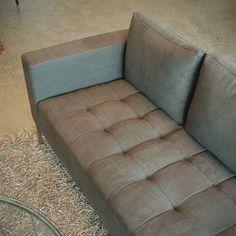 a mid-century modern sofa