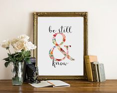 Be Still and Know. _______________________________________________________  ♥Welcome to Two Brushes Designs shop!♥