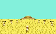 Aztec Challenge for the Commodore 64. The first level was one of the most frustrating yet addictive gaming experiences I can remember from my 8-bit days.