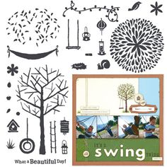 """Close to My Heart My Acrylix Stamp Set Trees & Things  Set of 26  Recommended My Acrylix® Blocks:  1"""" × 1"""" (Y1000), 1"""" × 3 1/2"""" (Y1002), 2 1/2"""" × 2 1/2"""" (Y1004), 4"""" × 4"""" (Y1008)    $17.95"""