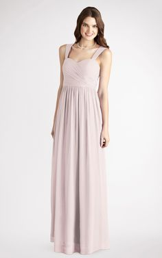 Chiffon Sweetheart,Square Floor-length A-line Bridesmaid Dresses