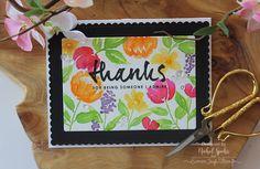 "Nichol Spohr LLC: Mama Elephant Simple Watercolored Florals ""Thanks"" Card"
