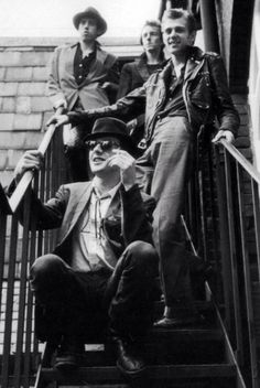 Joe Strummer, Paul Simonon, Mick Jones and Topper Headon.