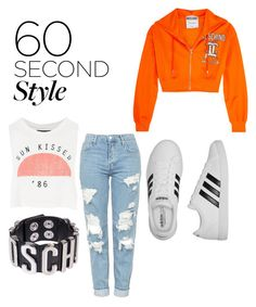 """""""Outside  Çinceye"""" by elcisueda on Polyvore featuring moda, Moschino, Topshop, adidas, 60secondstyle ve outdoorconcerts"""