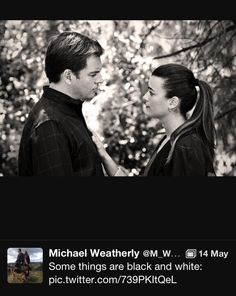 Ahh! Michael weatherly on the last tiva moment of the season