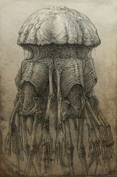 Hand drawing dark fantasy illustration of mutant creature collected fron humanoid bodies Creepy Drawings, Creepy Art, Scary, Arte Horror, Horror Art, Dark Fantasy Art, Dark Art, The Dark Side, Dark Creatures