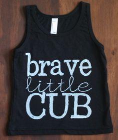 Available Now! Brave Little Cub tank by DearCub, $24.00