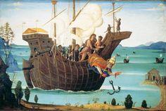 Bernardino Fungai, Le Martyre de saint Clément, peinture sur bois, vers 1500. City Art Gallery, York.