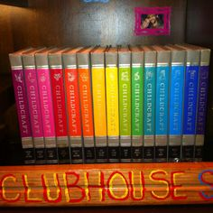 Perhaps THE best thing on the Clubhouse shelves - Andy's personal childhood set of Childcraft Encyclopedias. Andrew Cohen, Smart Home, Book Worms, Childhood Memories, Shelves, Good Things, My Favorite Things, My Love, Colors