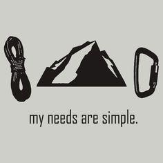 """""""Simple Needs (Rock Climbing)"""""""