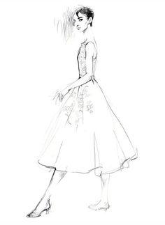 Audrey Hepburn by David Downton