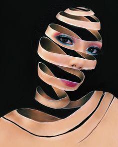 Amazing art or by mimles Makeup Fx, Scary Makeup, Body Makeup, Beauty Makeup, Makeup Eyeshadow, Unique Makeup, Creative Makeup, Maquillaje Halloween, Makeup Deals