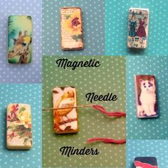 Magnetic Needle Minders Handmade  £3.99 each plus postage  www.DaintyDotsDecoupage.etsy.com More designs available over in my shop  Will post worldwide.
