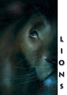 """""""Lions""""_Charcoal and colored pencil"""