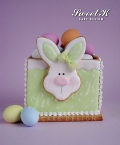 Easter Cookie Box with tutorial - by Karla (Sweet K) @ CakesDecor.com - cake decorating website