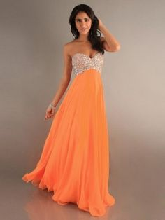 A-Line Sweetheart Floor-length Chiffon Dress MADUDRESS5034