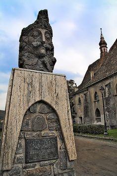 Vlad Tepes (Dracula) Statue -- Transylvania, Romania
