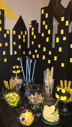 Batman candy table