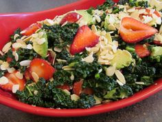 Strawberry, Avocado, and Kale Salad  (aka Just Eat Real Salad)  #PaleoDieting