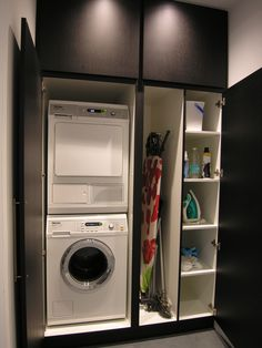 Laundry Cupboard, Laundry Shelves, Mudroom Laundry Room, Laundry Room Layouts, Laundry Room Remodel, Laundry Room Organization, Laundry Room Design, Laundry In Bathroom, Small Utility Room