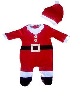 6ac7aa82467df Grenouillère bébé Père Noël. Toute mignone pour le soir de Noël la   Grenouillère
