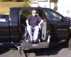 A truck with a side ramp. >>> See it. Believe it. Do it. Watch thousands of SCI videos at SPINALpedia.com