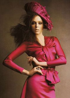 """Top Looks""  Coco Rocha in Christian Dior. Photo by Patrick Demarchelier - British Vogue August 2007."