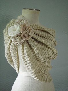 Off white Bolero ,Bridal Shawl , Bridal Shrug, Wedding Shrug,  Wedding Shawl, Bridal Wrap, Winter Wedding Shawl Shrug
