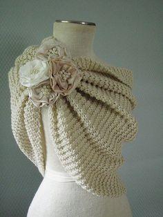 De blanco de la boda chal mantón de novia accesorios de por deniz03