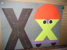Letter x crafts - Preschool Crafts Letter X Crafts, Alphabet Crafts, Alphabet Art, Letter Art, Craft Letters, Animal Alphabet, Preschool Letters, Alphabet Activities, Preschool Crafts