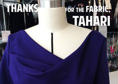 Thanks for the Fabric, Tahari  Throughout my career I've worked on a variety of projects. People often ask what my favorite show to work was, or what my favorite period is. Both of those questions are difficult for me to answer. I could probably tell you what my least favorite show to work on was but narrowing them all down to one single absolute best and favorite is not possible...