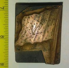 #antique Vintage Letterpress Printing Block US Navy? Anchor and Stars Flag Rare please retweet